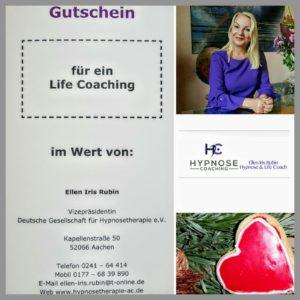 gutschein fuer ein Life coaching ellen iris rubin Weihnachtsgeschenk